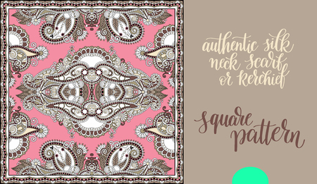 voile: authentic silk neck scarf or kerchief square pattern