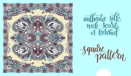 stole: auténtica bufanda de seda o de patrón cuadrado pañuelo