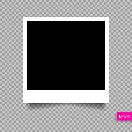 photo frame  template with shadow