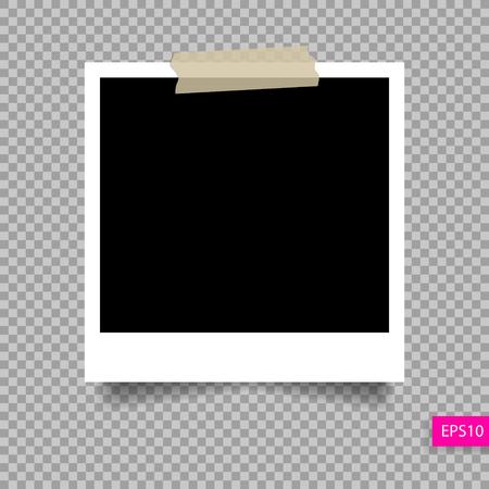 Foto-Rahmen-Vorlage auf Klebeband Stift Standard-Bild - 70447050