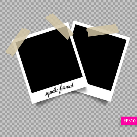 old square: retro square  photo frame template