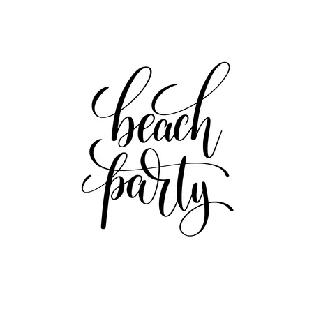 Beach party hand lettering inscription Illustration