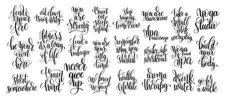 Satz von 25 Handbeschriftungsinschriften über Eignung zur Motivation