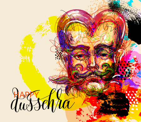 krishna: Happy dussehra poster design