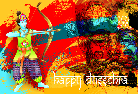 ramayan: Happy dussehra poster design