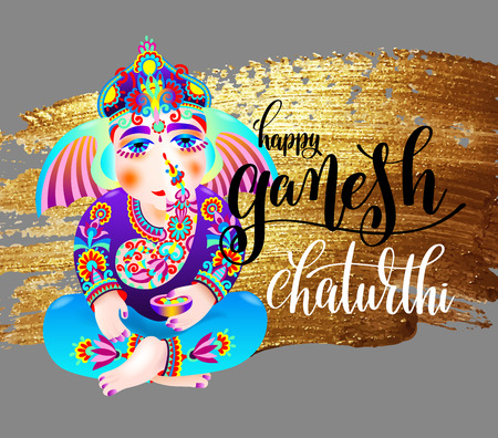 Happy ganesh chaturthi indian festival design poster
