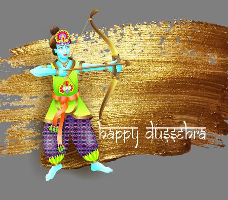Design krishna shoots an arrow from a bow