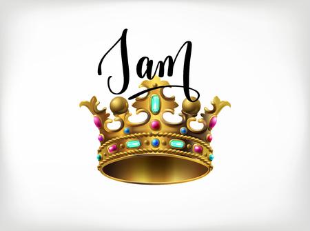 i am the king handwritten lettering poster Illustration