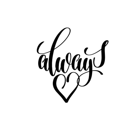 always in love lettering poster