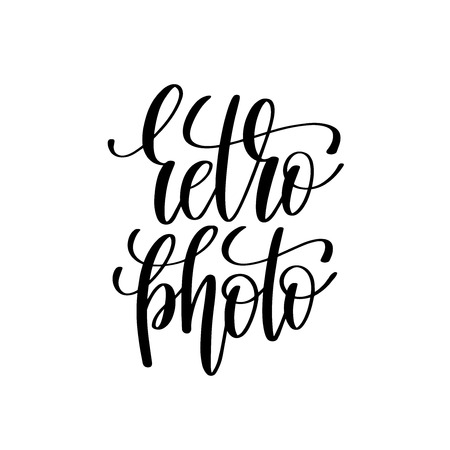 overly: retro photo black and white handwritten lettering