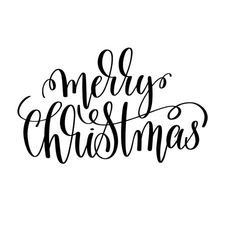 merry christmas hand lettering inscription to winter holiday greeting card christmas banner calligraphy text quote