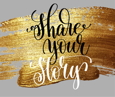 Share your story hand lettering poster.