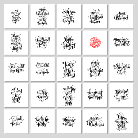 set of 25 hand lettering christmas quotes design to greeting car