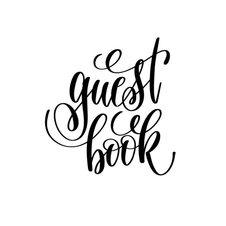Gästebuch Hand Schriftzug romantisches Zitat Vektorgrafik