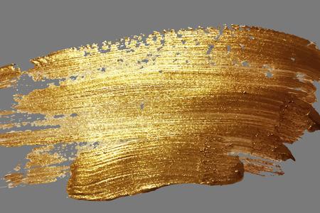 金色のブラシストロークスポットを持つ抽象的な背景