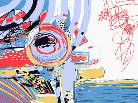 Ursprüngliche digitale abstrakte Malerei, zeitgenössische Kunstwerk Textur Standard-Bild - 85258576
