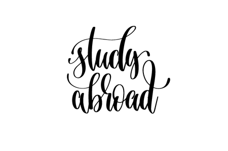 Study abroad hand written lettering