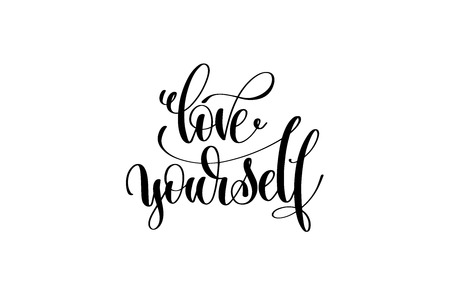 Love yourself lettering. Иллюстрация