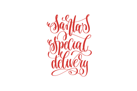 santas special delivery hand lettering holiday inscription