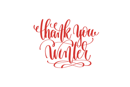 thank you winter hand lettering holiday inscription to christmas