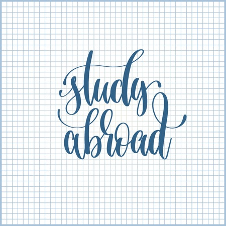 study abroad hand lettering motivation and inspiration Stock Vector - 88362070