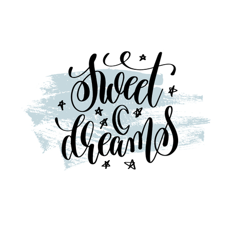 Sweet dreams hand lettering inscription