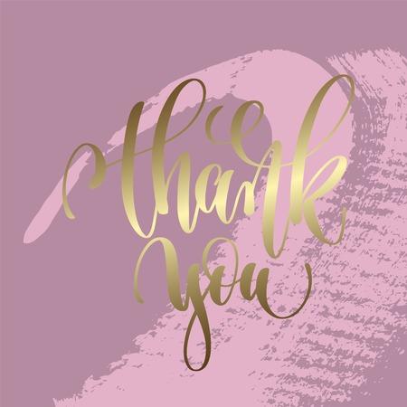 thank you hand lettering inscription Stock Illustratie