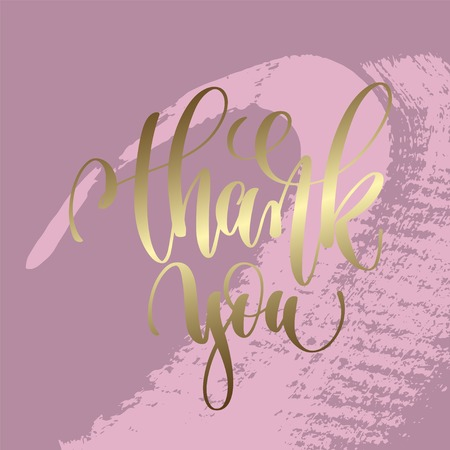 thank you hand lettering inscription Ilustrace