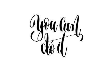 Positive quotes hand lettering design.