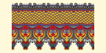 Ethnic pattern decoration design, stripe ornament to print vector illustration. Illustration