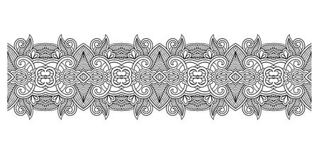 decorative stripe pattern, paisley floral design, vector illustration