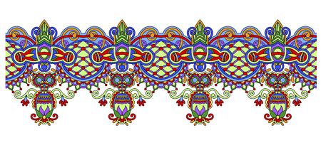 Decorative ethnic stripe pattern, indian paisley design Illustration