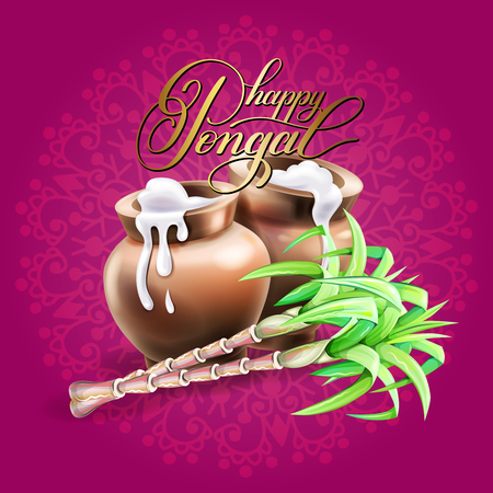 Happy pongal greeting card to south indian winter holiday royalty happy pongal greeting card to south indian winter holiday stock vector 95047579 m4hsunfo