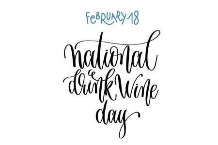 february 18 - national drink wine day 일러스트