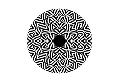 Estilo op art - ilusión óptica abstracta en blanco y negro Foto de archivo - 95306937