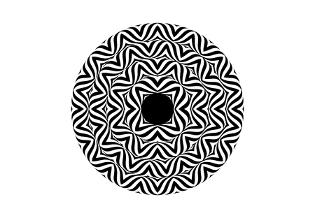 op art style - black and white abstract optical illusion Stock Vector - 95306937
