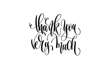Thank you very much - hand lettering positive quote Vectores