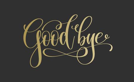 do widzenia - złoty napis napis tekst Ilustracje wektorowe
