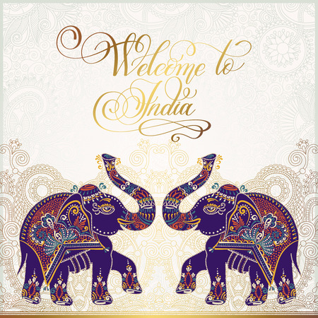 Welcome to India travel card poster