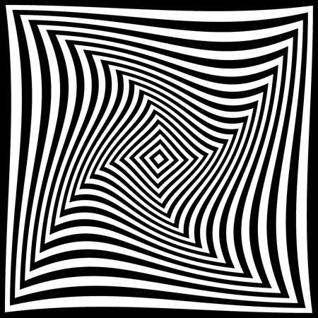 patrón de ilusión de torsión, diseño geométrico óptico
