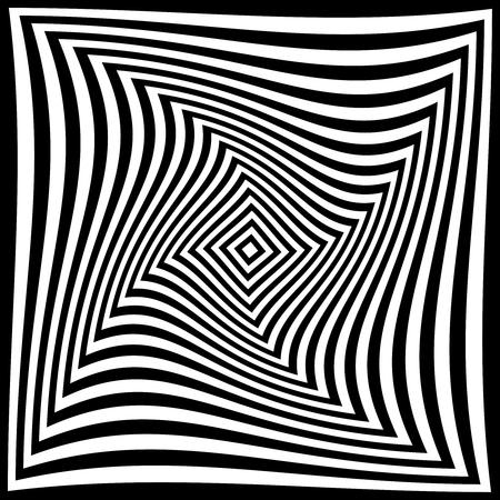 torsion illusion pattern, optical geometric design