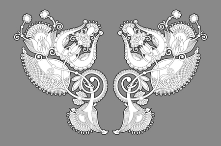 necklace embroidery print for fashion design Foto de archivo - 103740520