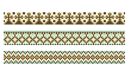 pattern for traditional Ukrainian cross-stitch embroidery, vector illustration