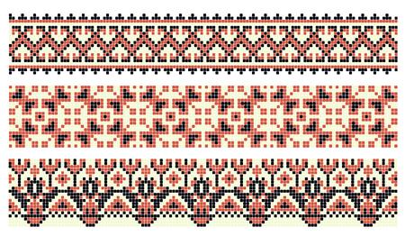 modèle pour la broderie traditionnelle ukrainienne au point de croix, illustration vectorielle