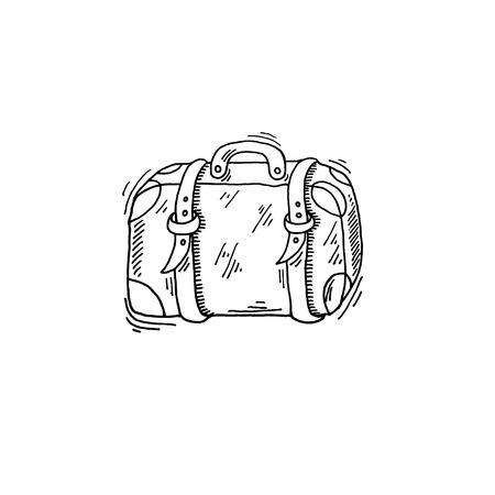viejo viaje caso boceto dibujo icono verano temática Ilustración de vector