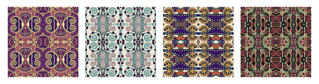 seamless geometry vintage pattern, ethnic style ornamental background, ornate floral decor for fabric design, endless texture