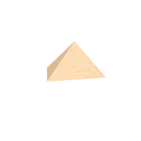 Egyptian pyramid in Giza, famous architectural structure Ilustrace