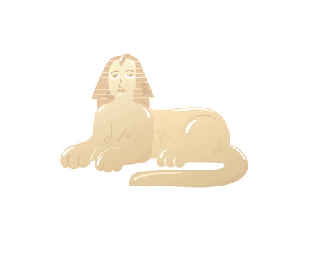 cartoon icon of the Great Sphinx in Giza, Egypt