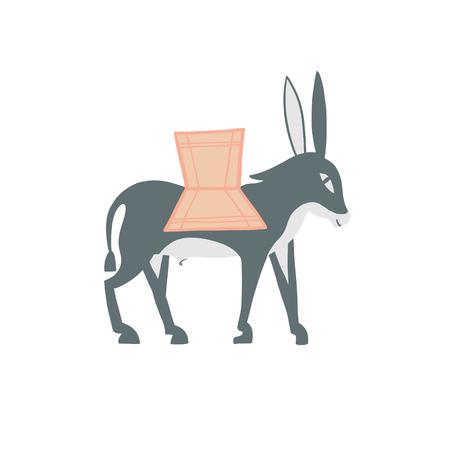 decorative donkey in egyptian style, vector illustration