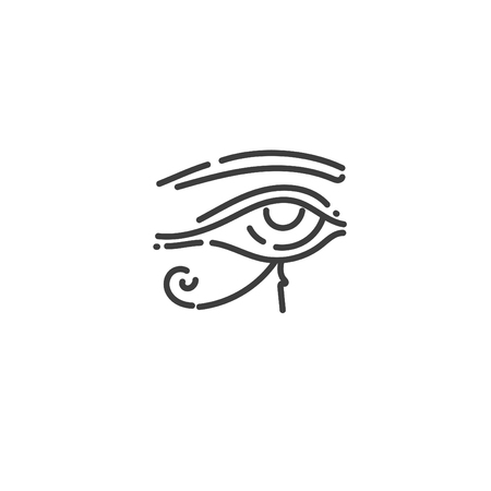 eye of ra flat outline icon of Egypt, concept silhouette
